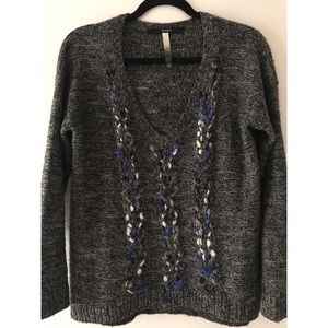 Kensie Marled V-Neck Sweater